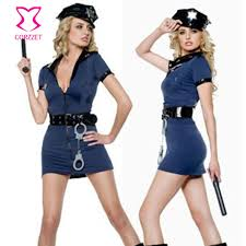 Size Halloween Costume Wholesale Size Black Police Officer Costume Women