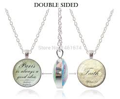 faith jewelry sided pendant letter necklace faith jewelry believe