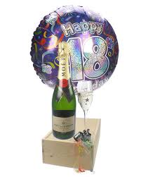 balloons for 18th birthday 18th birthday gift moet chagne balloon flute next day