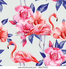 Wallpaper With Flowers Beach Image Wallpaper Beautiful Tropic Pink Stock Vector 639780316