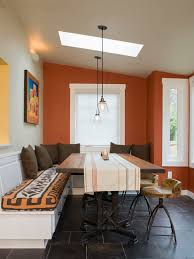 ideas for small dining rooms contemporary orange walls daybed cottage small dining room design