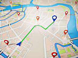navigation map map with gps icons navigation stock photo picture and
