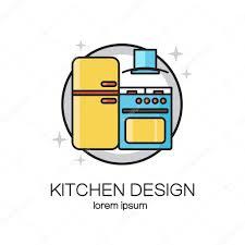 kitchen design line logo u2014 stock vector ciripasca 119166542