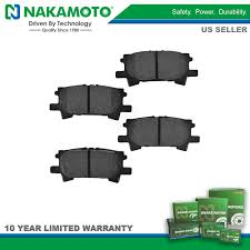 lexus ireland warranty nakamoto rear premium posi semi metallic brake pad kit set for