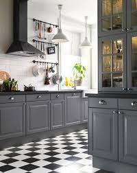white kitchen cabinets black tile floor 15 stunning gray kitchens grey kitchen designs grey