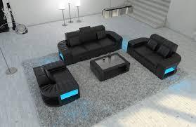 Modern Leather Couch Set Leather Sofa Set Boston 3 2 1 Led