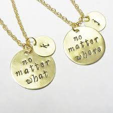 best friend gold necklace images Best friend necklace gold necklace no matter where necklace no jpg
