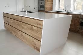 meuble cuisine sur meubles de cuisine en chêne tri pli à nœuds îlot avec plan