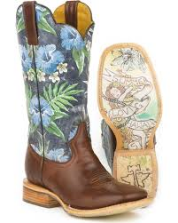 tin haul boots s size 11 tin haul blue hawaii cowboy boots square toe country outfitter