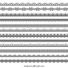 ornamental borders vector free