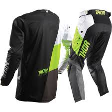 2t motocross gear thor 2017 mx new kids pulse aktiv lime black jersey pants youth