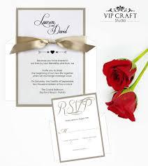 classic layered wedding invitation rsvp set of 10 vip craft