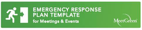 emergency response plan template meetgreen