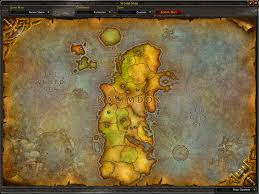 Wow Map Map Of Kalimdor The Western Continent Of Azeroth World Of