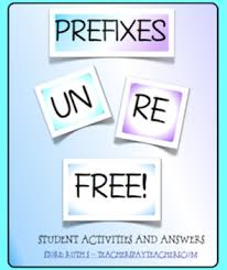 prefixes un and re free by ruth s teachers pay teachers