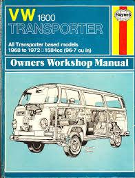 haynes vw 1600 transporter workshop manual 1968 1972 air cooled