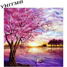 scenery images New 3d diamond painting cross stitch beautiful scenery crystal jpg