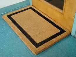 Coco Doormat Amazon Com Black Border Coco Coir Doormat Heavy Duty Doormats