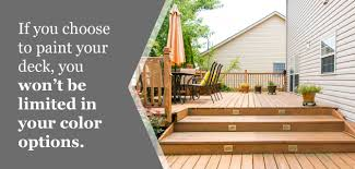is it better to paint or stain your kitchen cabinets painting vs staining your deck which option is best