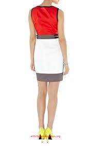 stunning karen millen dl049 colourblock shift dress multicolour