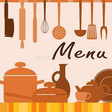 fonds de cuisine fond de cuisine pour la couverture de menu illustration de vecteur
