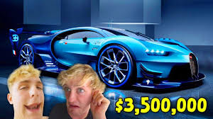 top 10 most expensive youtuber supercars logan paul ksi jake