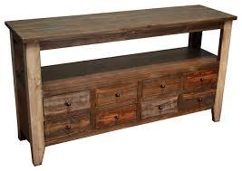 Farmhouse Console Table Rustic Sofa Table With 8 Drawers Farmhouse Console Tables By