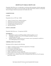 Culinary Resume Samples Hospitality Resume Template