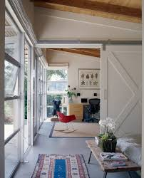home office sliding with white barn door home office contemporary