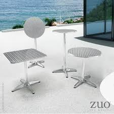 Zuo Modern Bar Table Christabel Bar Table Aluminum 700611 Zuo Mod Metropolitandecor