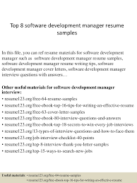 Best Resume Writing Software by Top8softwaredevelopmentmanagerresumesamples 150331210007 Conversion Gate01 Thumbnail 4 Jpg Cb U003d1427853657