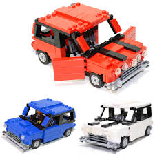 lego mini jeep mini cooper custom lego element kit 2011 available in red