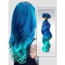 teal hair extensions colorful ombre hair extensions fashion color human hair extensions