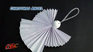 diy easy paper christmas ornament angel how to make