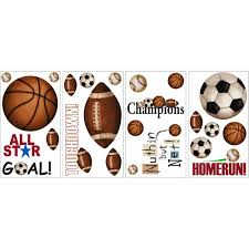 Sports Decals For Kids Rooms by Kids U0027 Wall Decals Walmart Com