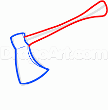 how to draw an axe step by step stuff pop culture free online