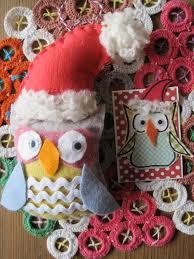 santa owl decoration owl decorations and owl