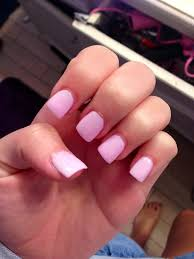 perfect light pink acrylic nails with a hint of sparkle very