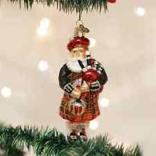 glass santa ornament ebay