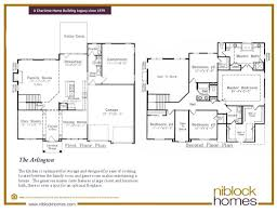 arlington floor plan 2nd story master bed niblock homes
