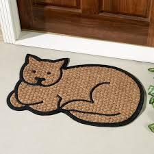 Unique Doormats Cat Shaped Coir Doormat