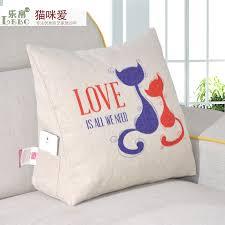 tv bed pillow cotton cushion triangle waist office chair sofa cushion bed backrest