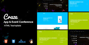 craze app landing conference u0026 event template by codepassenger