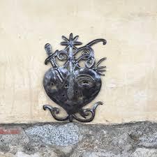 Fair Trade Home Decor Metal Heart Freda Veve Nail Details Haiti Wall Art Fair Trade