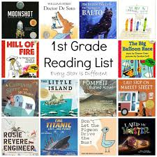 2nd grade books to read 1st grade reading list every is different