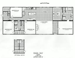 Floor Plans For Large Homes by 4 Bedroom Floor Plan C 9917 Hawks Homes Manufactured