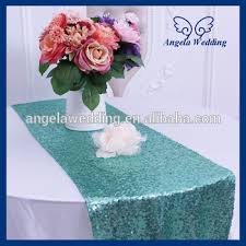 Table Runners For Round Tables Ru009c Sale Fancy Weddding Sequence Decorative Mint Green