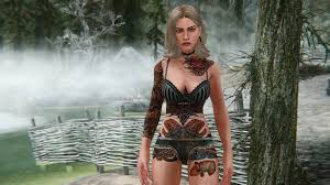 tattoo model race menu at skyrim nexus mods and