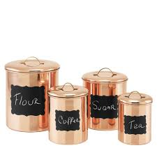 old dutch decor copper chalkboard canister set 4 piece 1143