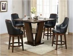 counter height dining table with swivel chairs dining room sofa set home design